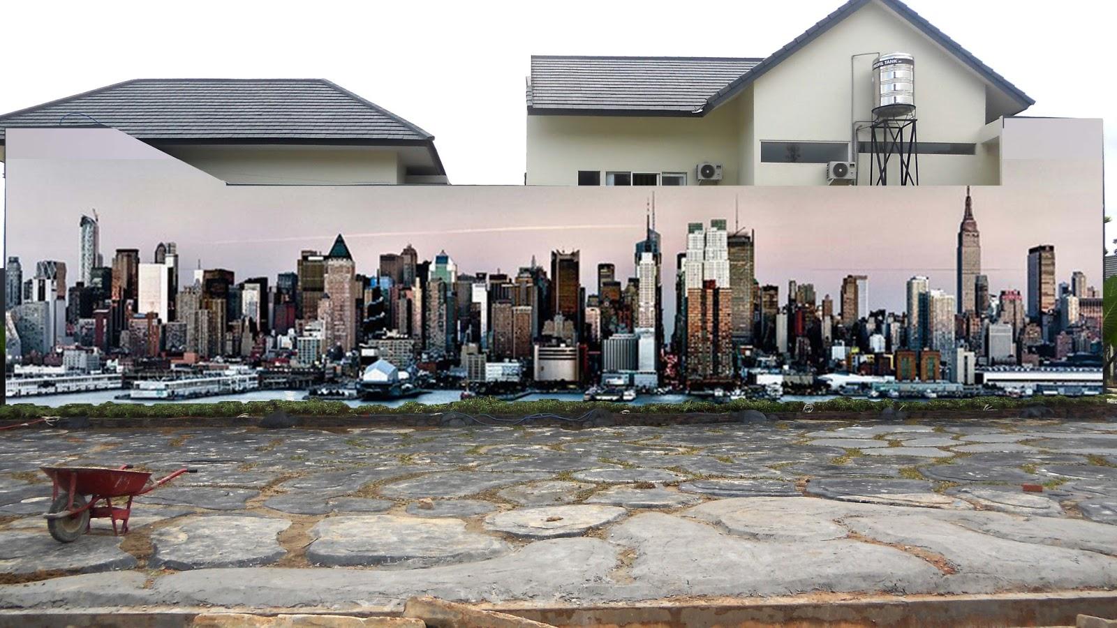 Gambar Lukisan Pada Dinding Rumah Makan 3D