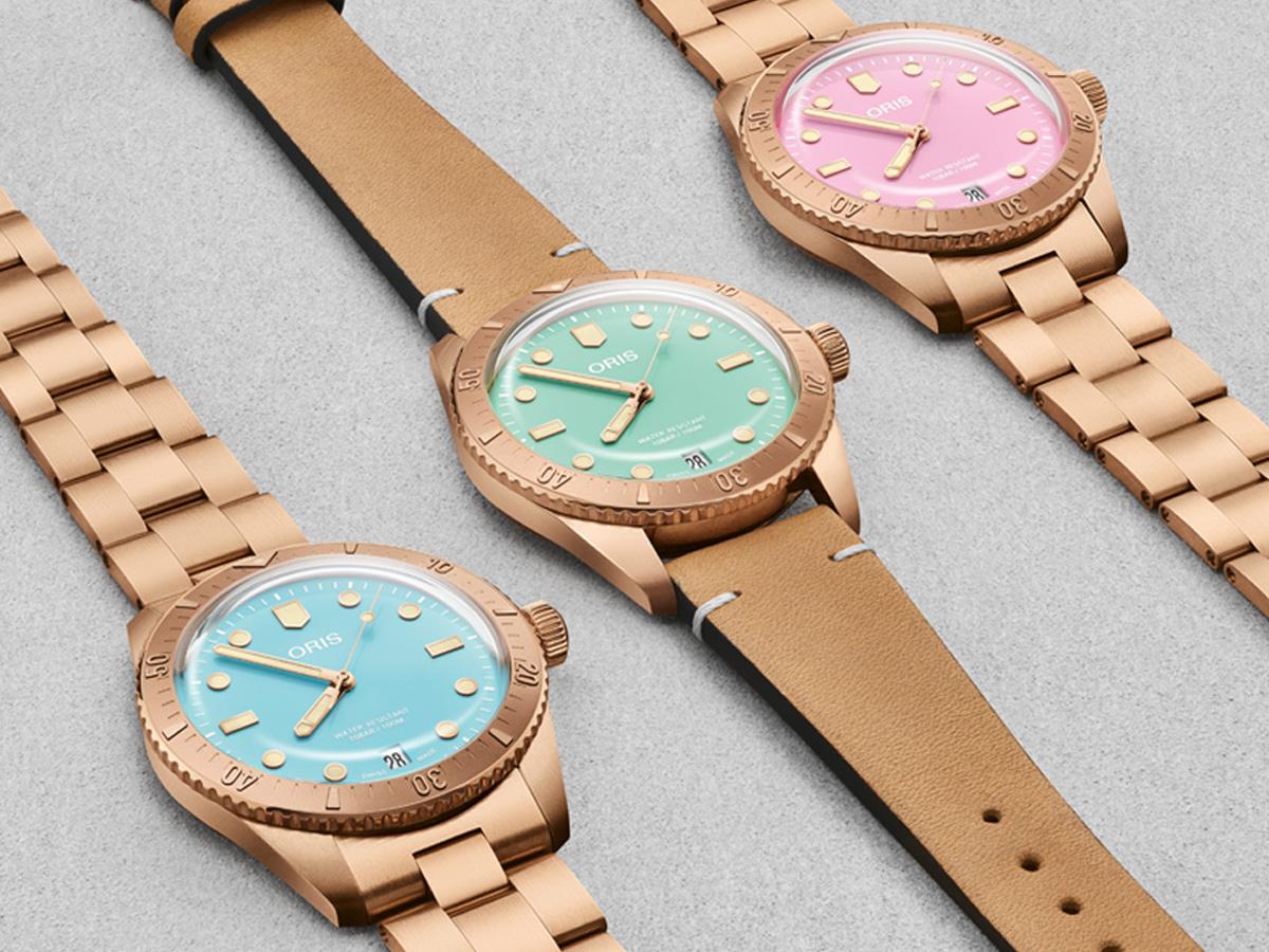 """ساعات """"Oris """" بألوان حلوى غزل البنات  المبهجة"""