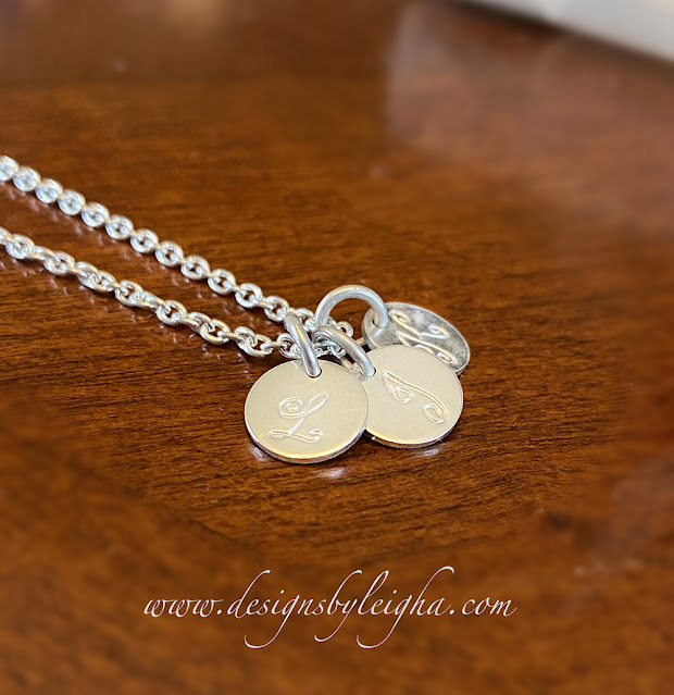 Sterling Silver 3 Kids Initial Necklace