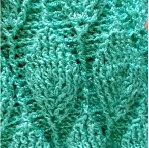 Punto Hojas en Relieve Crochet