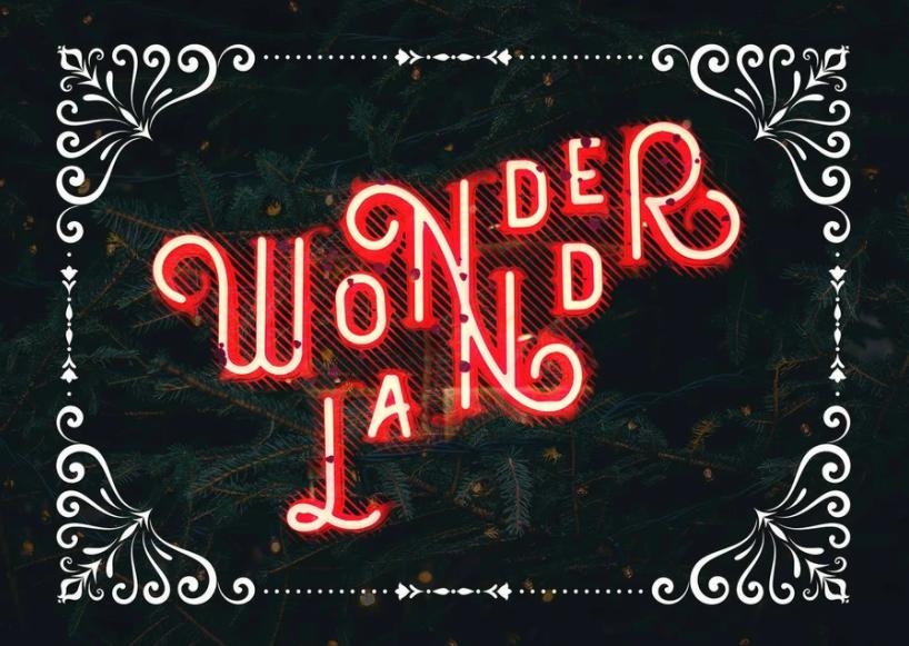 Wonderland Neon Print