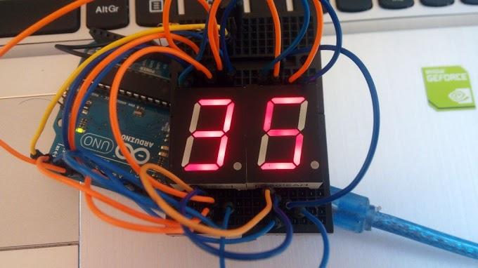 #53 Αντίστροφη μέτρηση με 7 Segment displays - Arduino