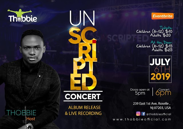 "Event: THOBBIE set to Light Up New Jersey This Weekend with ""UNSCRIPTED"" Concert 2019 // July 6 