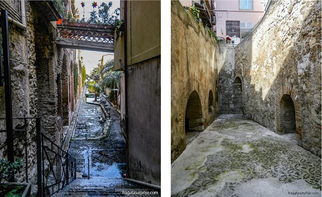 vestígios gregos e romanos em Taormina, Sicília