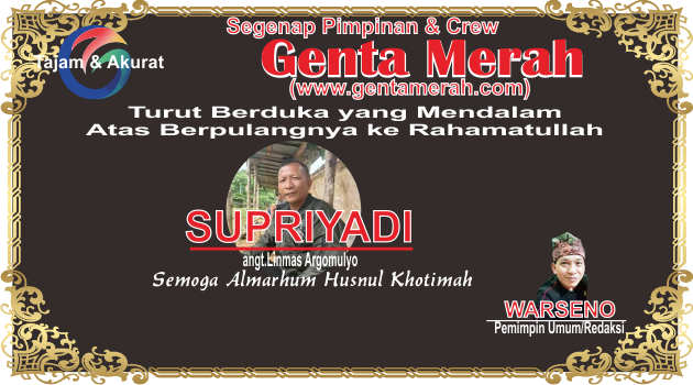 gentamerah.com Turut Berduka Cita Atas Wafatnya Anggota Linmas Argomulyo