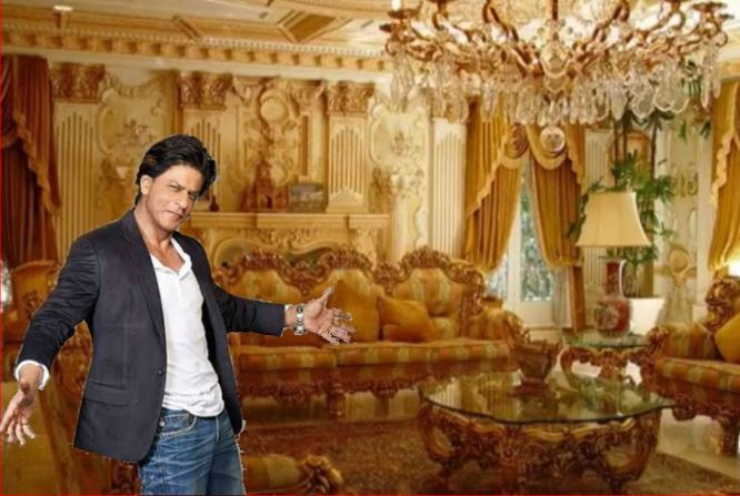 shahrukh khan and gauri khan house inside