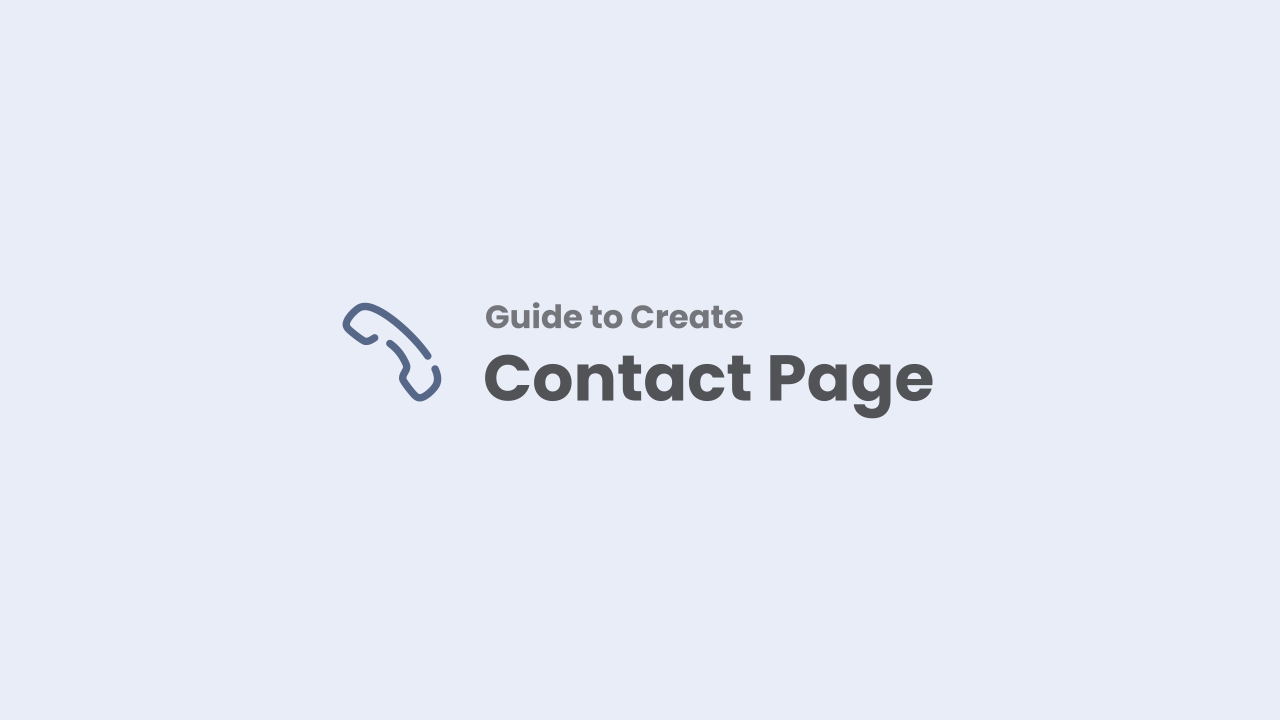 Guide to Creating a Contact Us Page