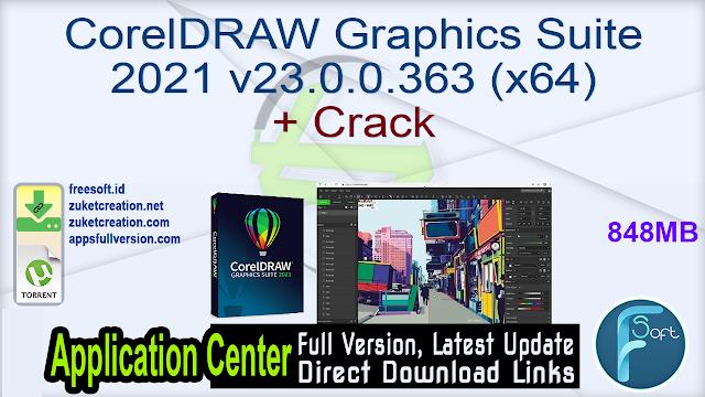 CorelDRAW Graphics Suite 2021 v23.0.0.363 (x64) + Crack