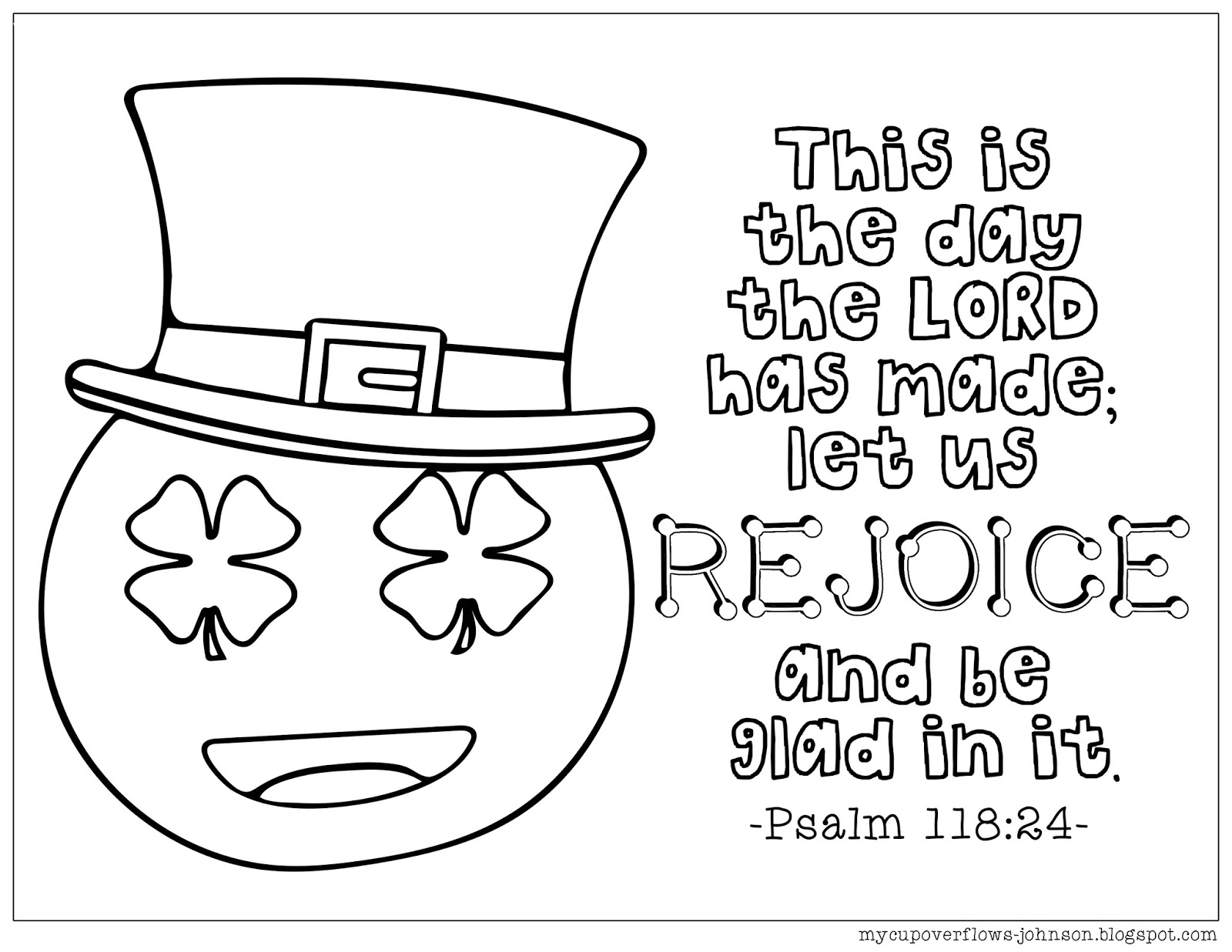My Cup Overflows: St. Patrick's Day Coloring Pages