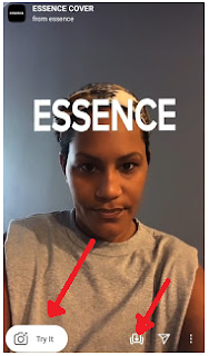 Essence challenge filter | The challenge of being Essence magazine cover model on Instagram