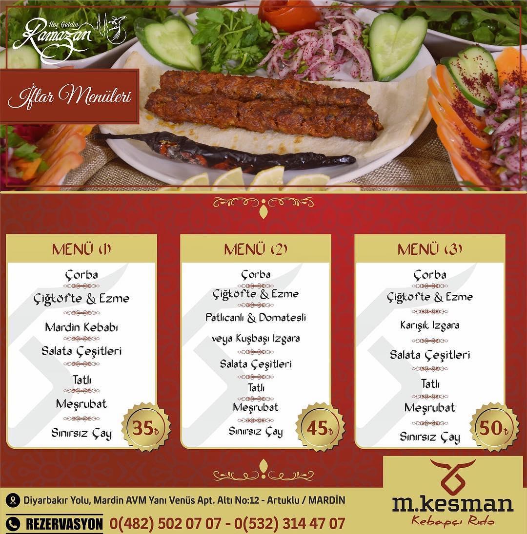 m.kesman kebapçı rıdo mardin iftar menü mardin iftar yerleri