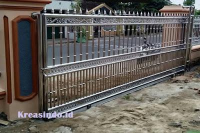 jual pintu pagar stainless murah