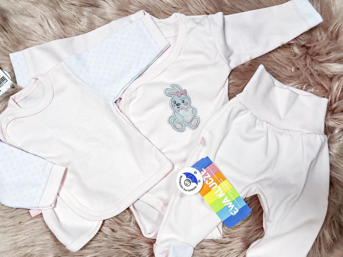 zestaw ubrań do szpitala dla noworodka