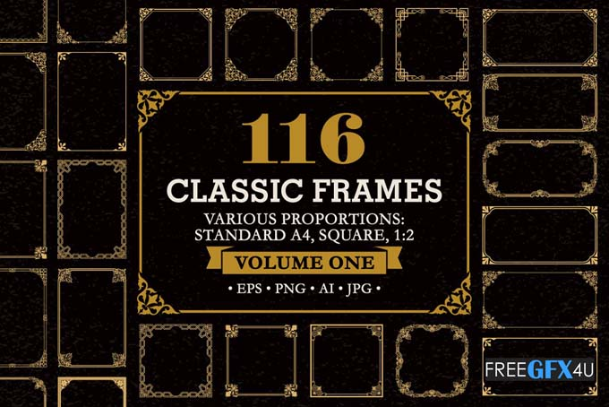 Decorative Frames Borders set