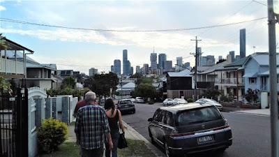 Straße in Brisbane-New Farm