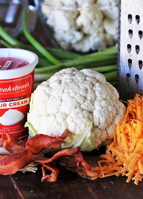 Cauliflower {Just Like} Loaded Baked Potato Casserole Ingredients Image