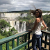 Miss Brazil World - Beatrice Fontoura visited the Iguaçu Falls