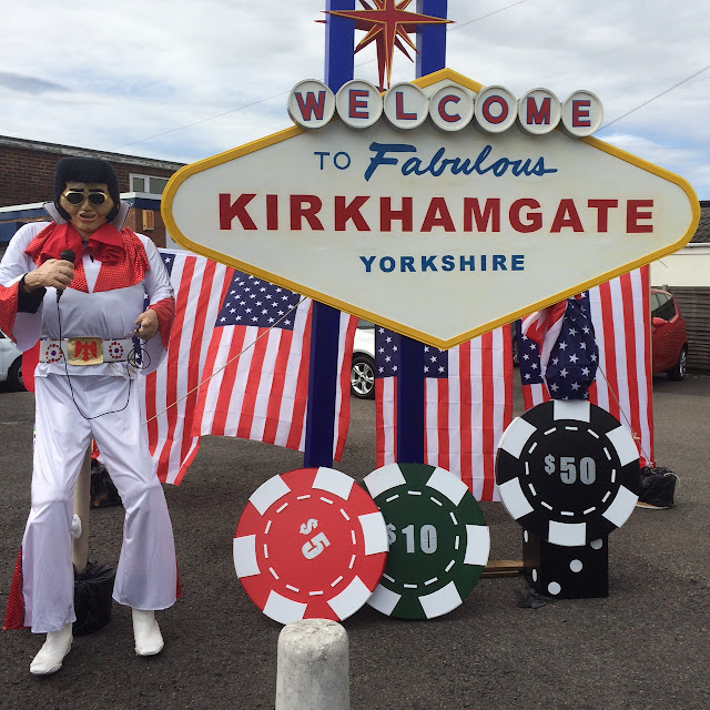 Kirkhamgate Scarecrow festival, elvis Scarecrow