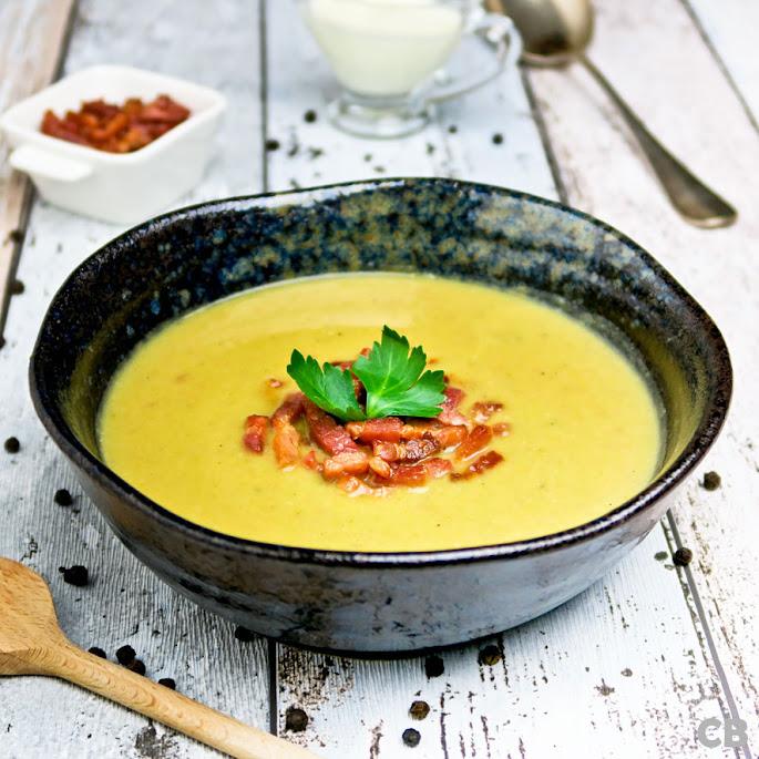 Recept Romige aardappel-preisoep met spekjes