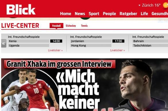 Granit Xhaka: I have Albanian blood, but my home is Switzerland