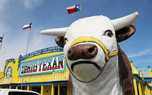 Big Texan Steak Ranch Route 66 Texas
