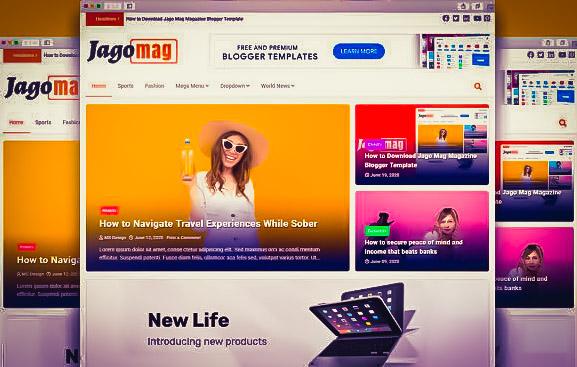 JagoMag blogger template