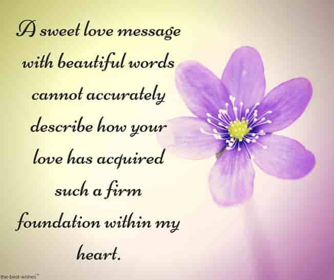 nice text messages for him with lovely flower
