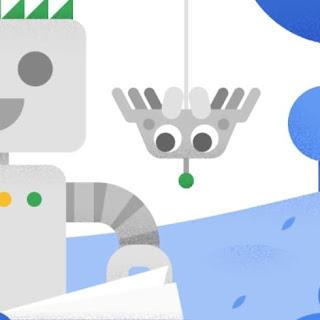 لقطة شاشة لمقتطف صورة يُظهر عنكبوتا صغيرا أمام جزء من روبوت