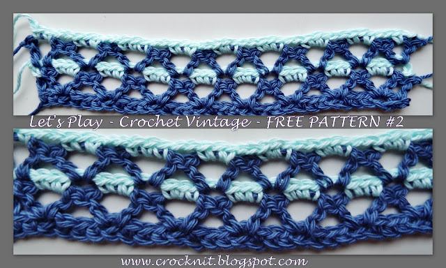 free crochet patterns, vintage, v-st, crazy vee
