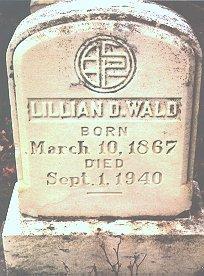 """مقبرة """"ليليان دي. والد"""" Lillian Wald"""