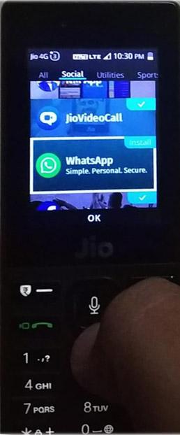 install facebook messenger in jio phone