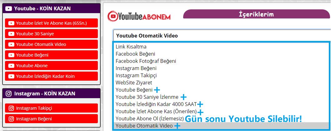 Youtube Abonem Sitesi ile Youtube Abone Kasma