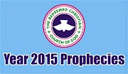 RCCG - PROPHECIES FOR YEAR 2015