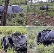 Motorista perde o controle da direção e carro capota na MA-122 próximo a Pedreiras.