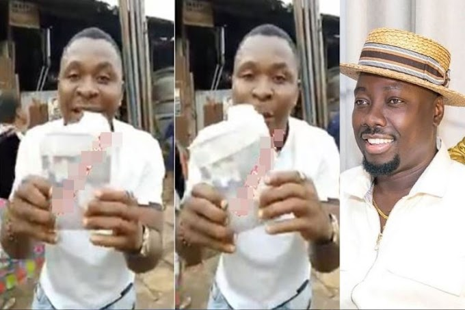 Man Shows Off Huge Cash He Picked At Obi Cubana's Mother's Burial (VIDEO)