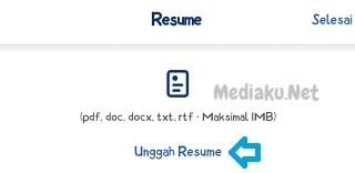 Cara Upload CV (Resume) Di JobStreet Lewat HP