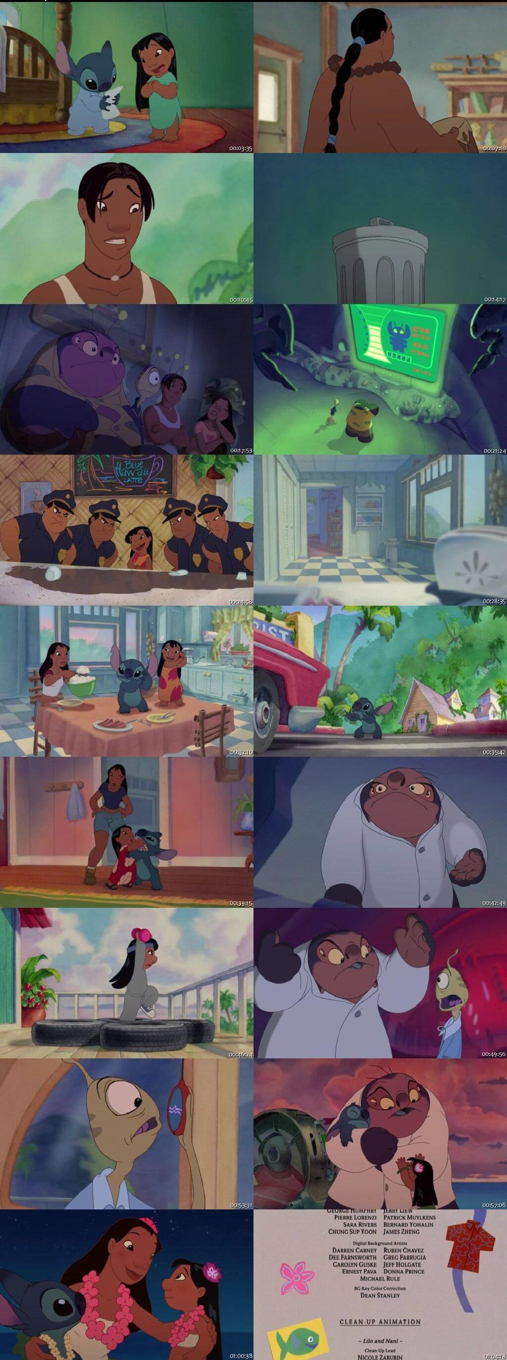 Screen Shot Of Lilo & Stitch 2: Stitch Has a Glitch 2005 In Hindi English Dual Audio Bluray