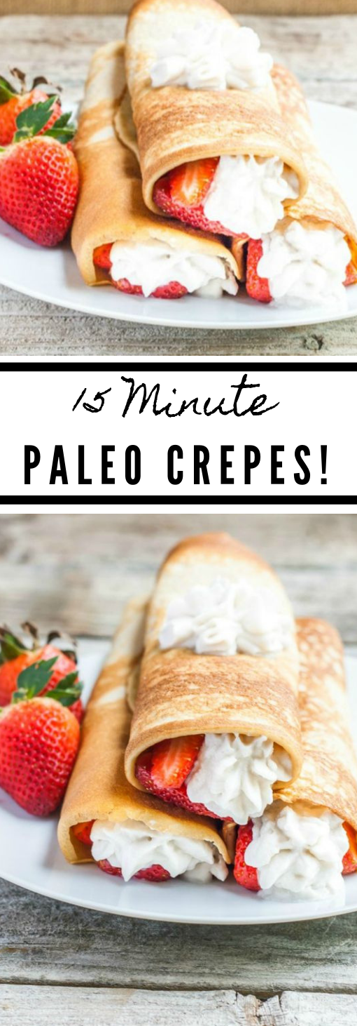 Paleo Crepes With Strawberries #diet #dietketo #paleo #whole30 #recipes
