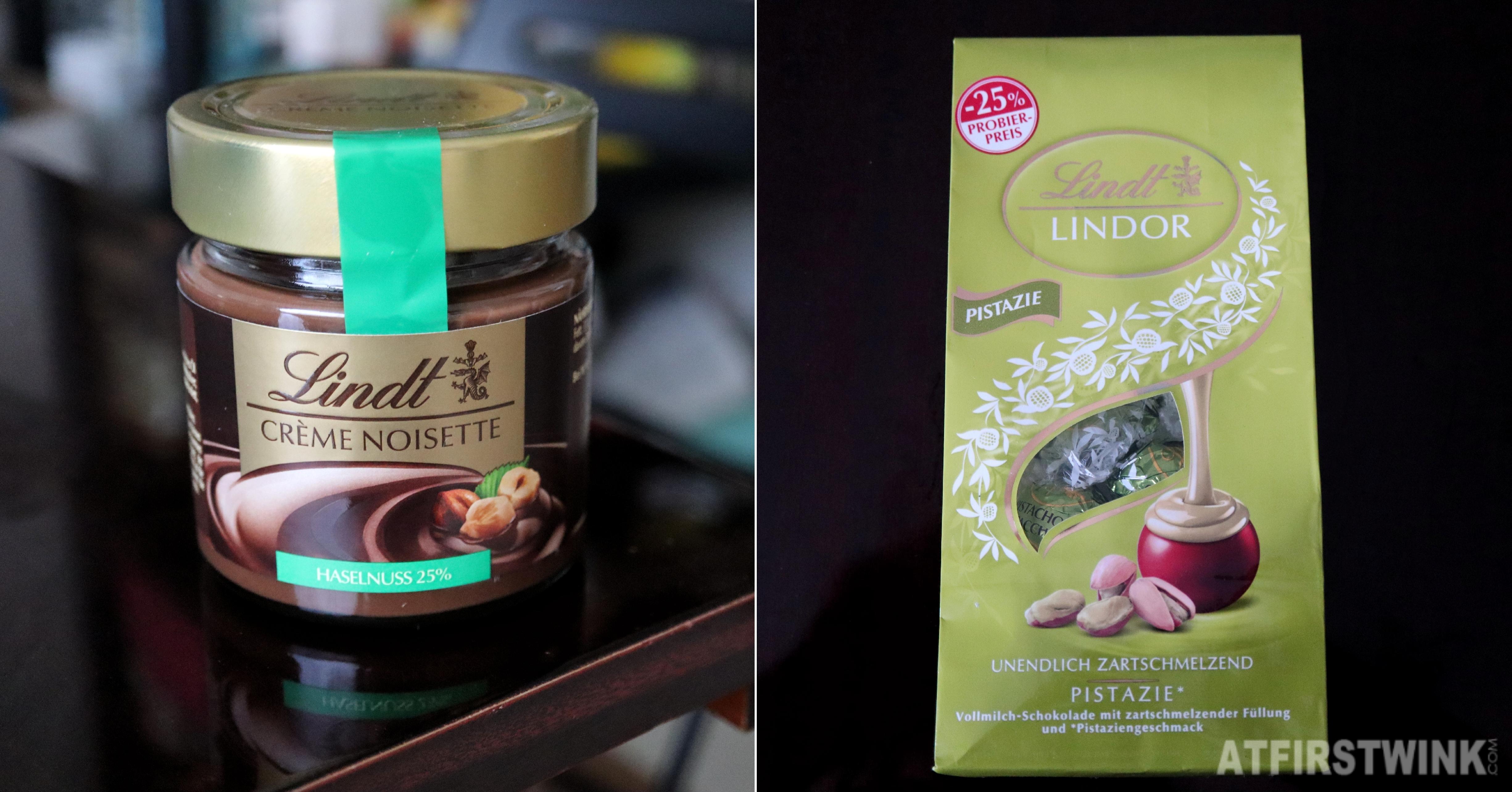 Lindt lindor pistachio chocolate truffles hazelnut chocolate spread