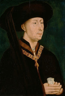Portrait of Philip the Dood (the Duke of Burgundy) by Rogier van der Weyden, circa 1445, in the Flemish City of Bruges