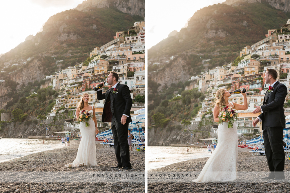 Fun elopement wedding in Positano