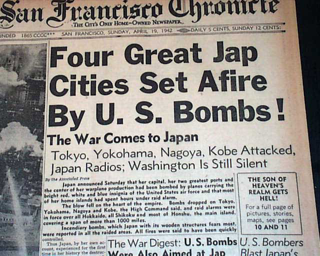 San Francisco Chronicle 19 April 1942 worldwartwo.filminspector.com
