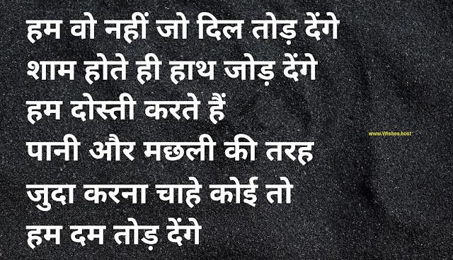 emotional dosti shayari image