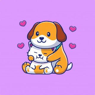 El perrito y el gatito