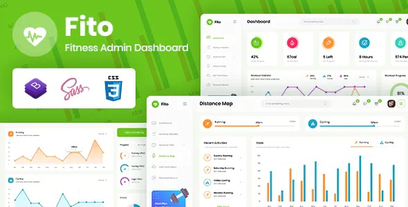 Fitness Admin Dashboard Template