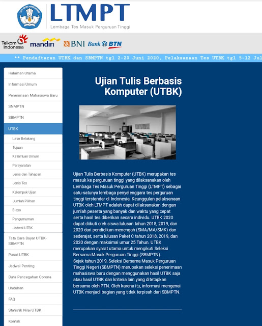 Login www.ltmpt.ac.id Jadwal Pendaftaran dan Ketentuan UTBK SBMPTN Dibuka 2 Juni 2020