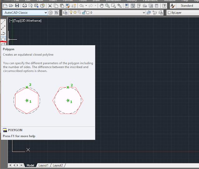 AutoCAD में polygon बनाना आसान है