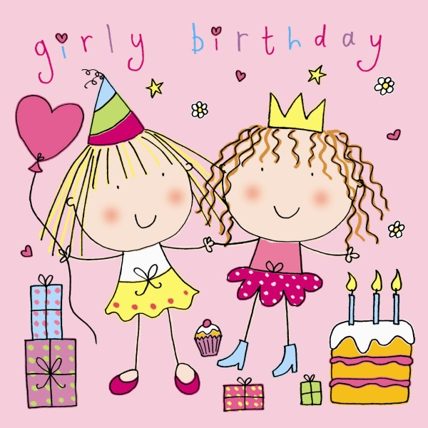 Girly Birthday Cards Luxury Lifestyle Design