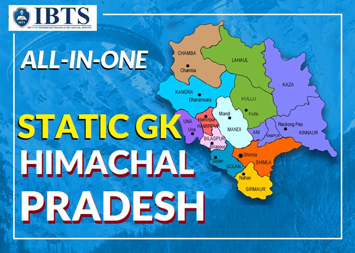 Himachal Pradesh Static GK 2021 pdf - Complete Static GK of Himachal Pradesh