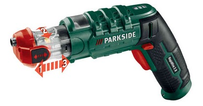 Avvitatore ricaricabile a pistola parkside da lidl for Parkside pistola sparapunti elettrica